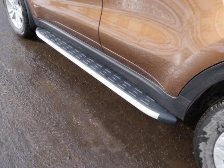Kia Sportage 2016-Пороги алюминиевые с пластиковой накладкой 1720 мм